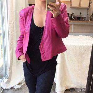 Vintage Yucatan Bay Hot Pink Leather Jacket